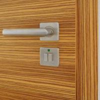 Interiérové dveře, detail kliky, dýha zebrano