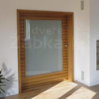 Dveře prosklené posuvné do stěny (šíře křídla 180 cm); Arodýha zebrano