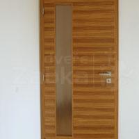 Dveře falcové, prosklené; Arodýha zebrano