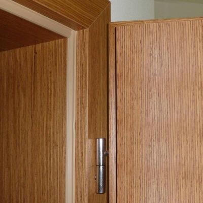 Falcové dveře s obložkovou zárubní, dýha