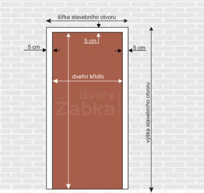 definice stavebního otvoru pro instalaci dveří